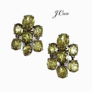 J. Crew Citrine Chandelier Post Earrings
